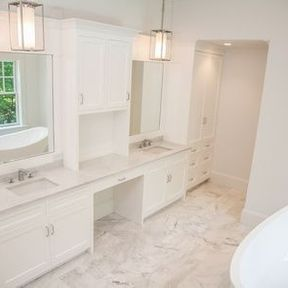 custom stone work bathroom